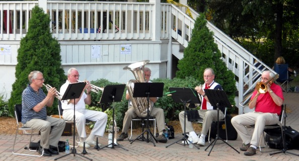 2014-08-08 Brass Quintet at Chesterton Gazebo at Centennial Park